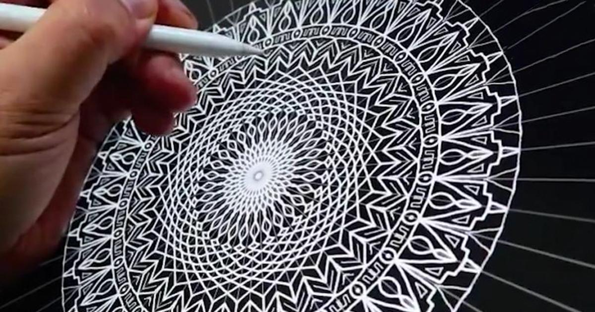 Hypnotising Mandala By Seb Lester Made Using Apple Pencil And
