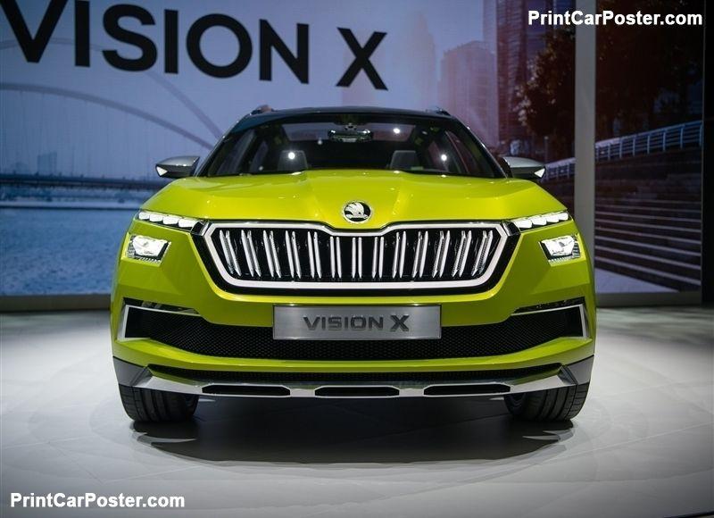 Skoda Vision X Concept 2018 Poster Id 1345096 Skoda Hybrid Car Volkswagen