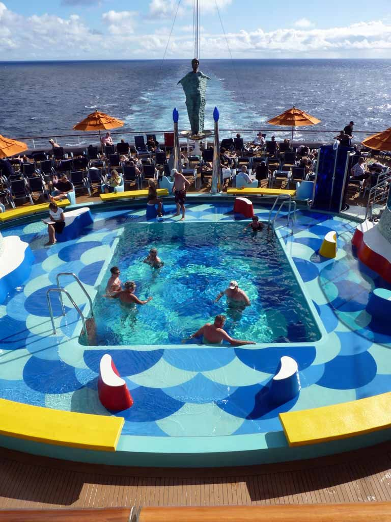 1820 carnival dream transatlantic cruise sunset pool