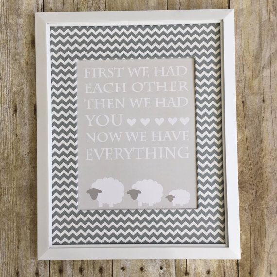 Welcome To Lb Designs Lamb Nursery Decor Gray And White Sheep Art Gender Neutral Baby Shower Gift This Adorable Print
