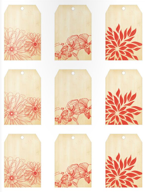 pretty floral tags