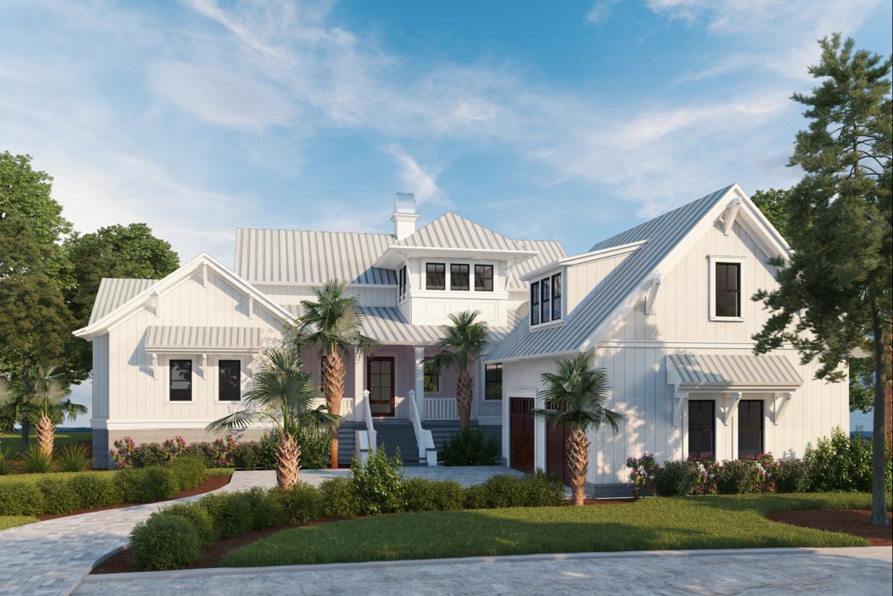 Leadenwah Rest Home Plan Flatfish Island Designs Coastal Home Plans Beach House Exterior Beach House Flooring Coastal House Plans