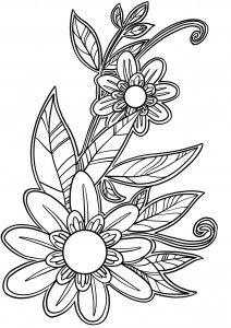 Coloriage De Fleurs Coloriage Coloriage Fleur Dessin Fleur