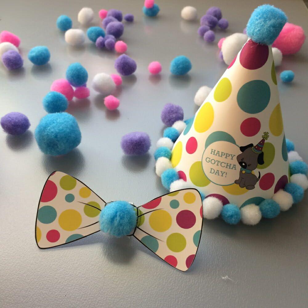 Celebrating Dog Birthdays Free Printable Party Kit Dog Birthday Diy Birthday Hat For Dog Dog Birthday Hat