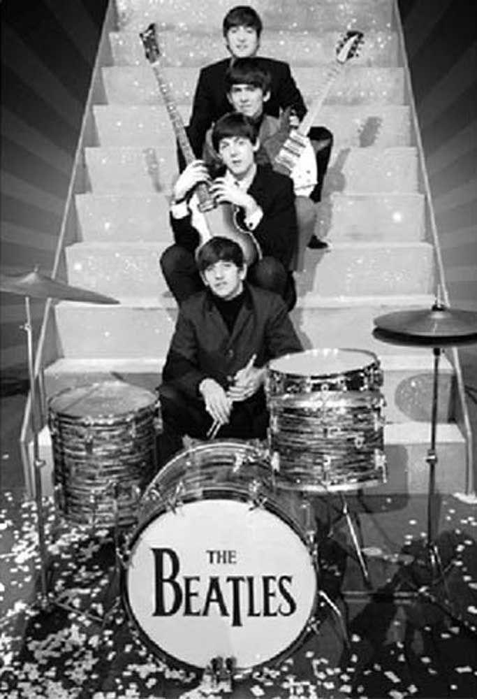 Bildergebnis Fur Beatles Poster Treppe