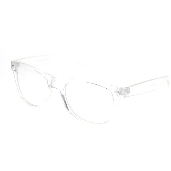 80s Nerdy Clear Transparent Thick Plastic Frame Optical Eye Glasses ...