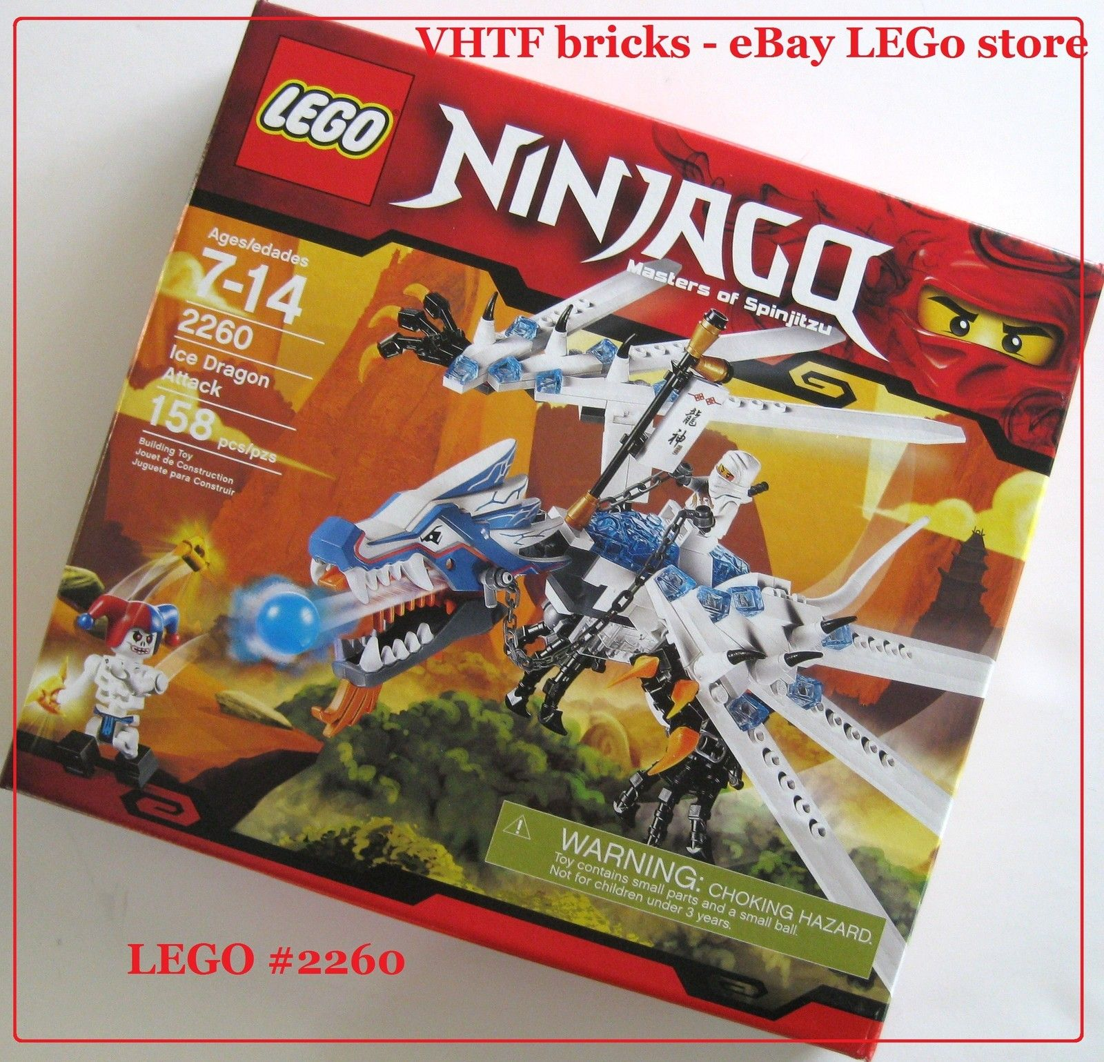 Lego ninjago 2260 ice dragon attack new sealed zane dx minifigure vhtf item ice dragon lego - Dragon ninjago lego ...