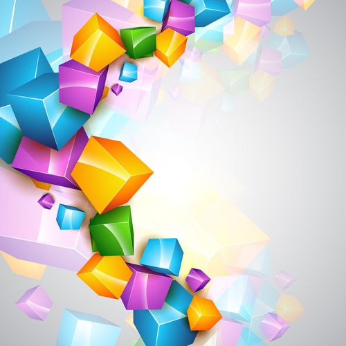 colorful shapes background created - photo #29