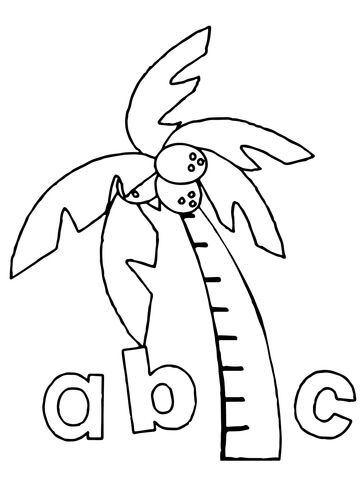 Chicka Chicka Boom Boom Abc Coloring Page From Chicka Chicka Boom