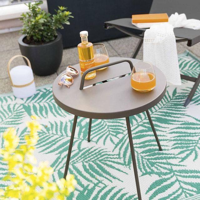 Table D Appoint De Jardin Practico Diam 44 Cm Marron Hesperide