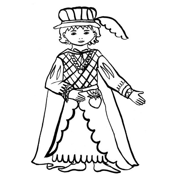 Coloriage Sur Le Theme Du Moyen Age Coloriage Moyen Age Coloriage Princesse
