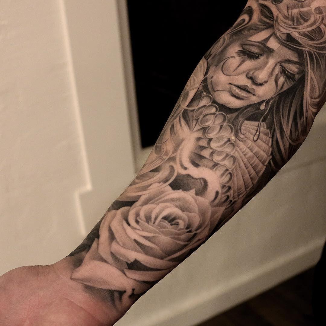 Upper Arm Hood Shoulder Tattoos For Black Men