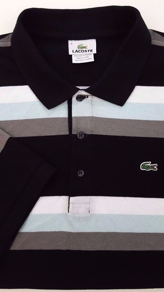 Lacoste striped polo shirt multicolor sz 8 mens cotton logo size 2xl lacoste striped polo shirt multicolor sz 8 mens cotton logo size 2xl gator xxl sciox Images