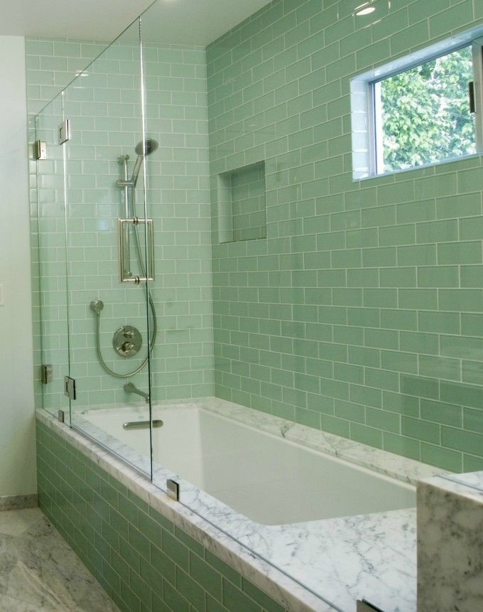 Interesting Subway Tile Wall Surround With Bathtub Shower Combo Also ...