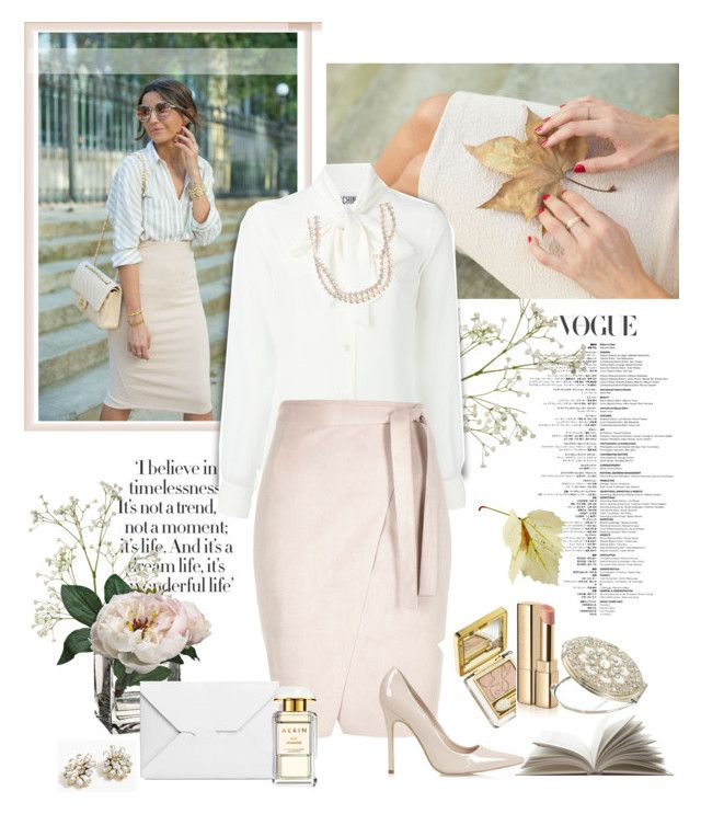 """Take A Leaf From Someone's Book"" by rever-de-paris ❤ liked on Polyvore featuring Moschino, Estée Lauder, Topshop, Dolce&Gabbana, J.W. Anderson, Monsoon, STELLA McCARTNEY, J.Crew, Spring and Elegance"