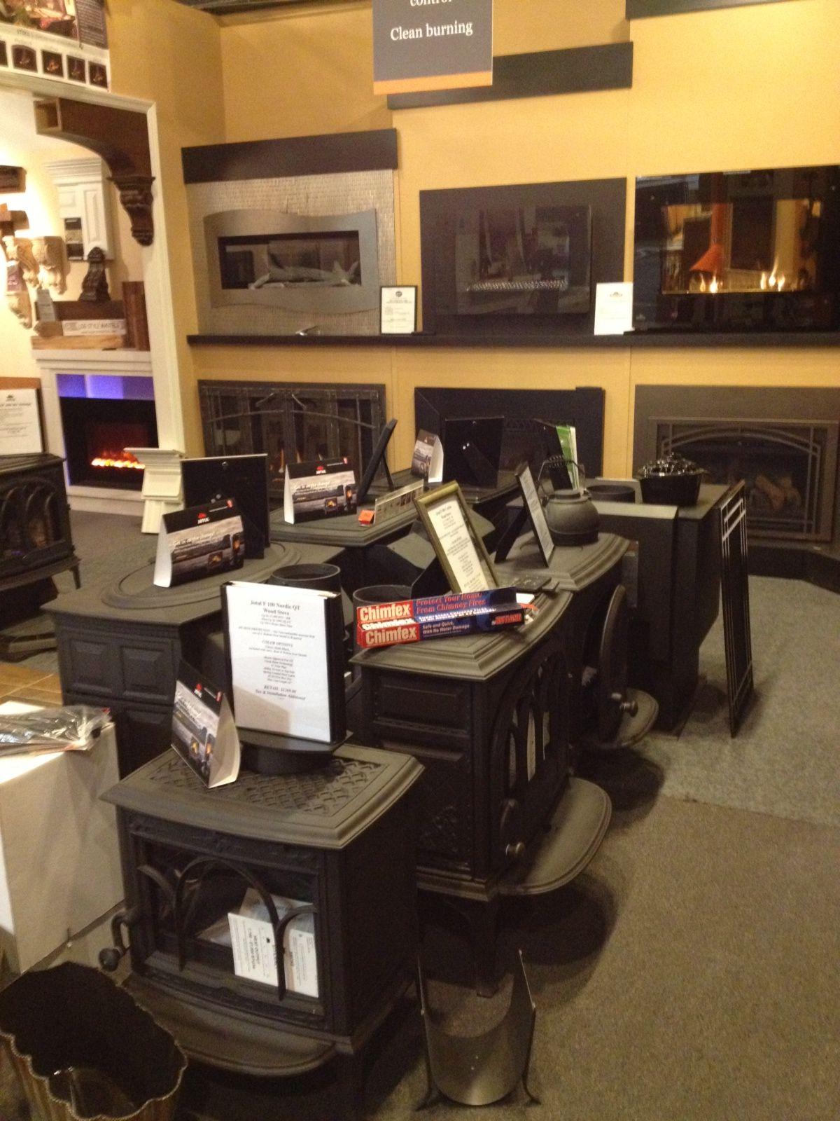 our showroom as shown wood and pellet burning jotul harman