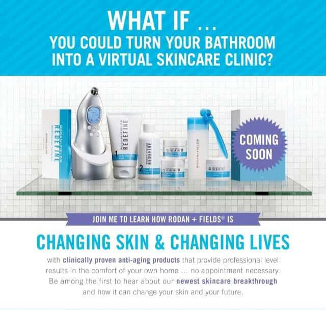 You CAN turn your personal bathroom into a virtual skincare clinic and in just a few days we'll being another FABULOUS product you'll want to add to skincare regimen.  Can't wait!!    www.lisabadley.myrandf.com