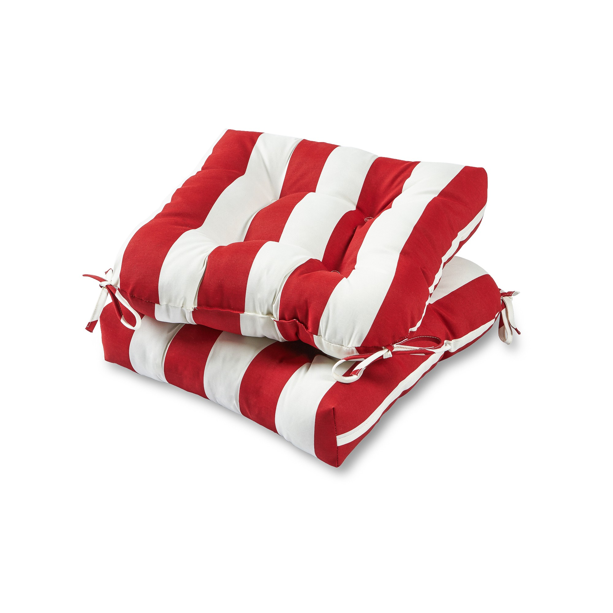 Set Of 2 Outdoor Chair Cushions Cabana Stripe Red Greendale Home Fashions Outdoor Seat Cushions Outdoor Chair Cushions Dining Chair Cushions