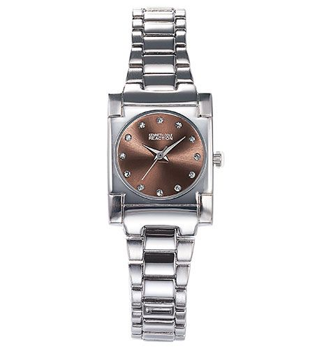 Kenneth Cole Reaction Ladies Watch Silvertone Cz Accents Mark Each Hour On Sunray Dial 7 1 4 Link Bracelet C Kenneth Cole Watch Avon Outlet Womens Watches