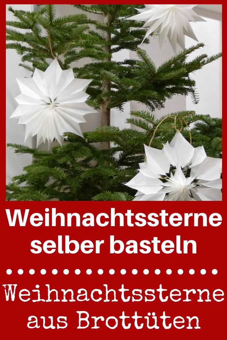 Weihnachtssterne aus Brottüten | Weihnachten | Pinterest