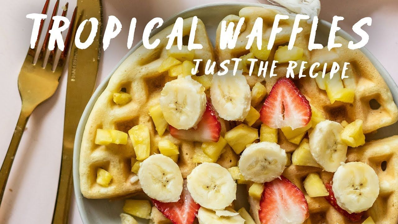Extra tropical waffles for your summer mornings just the