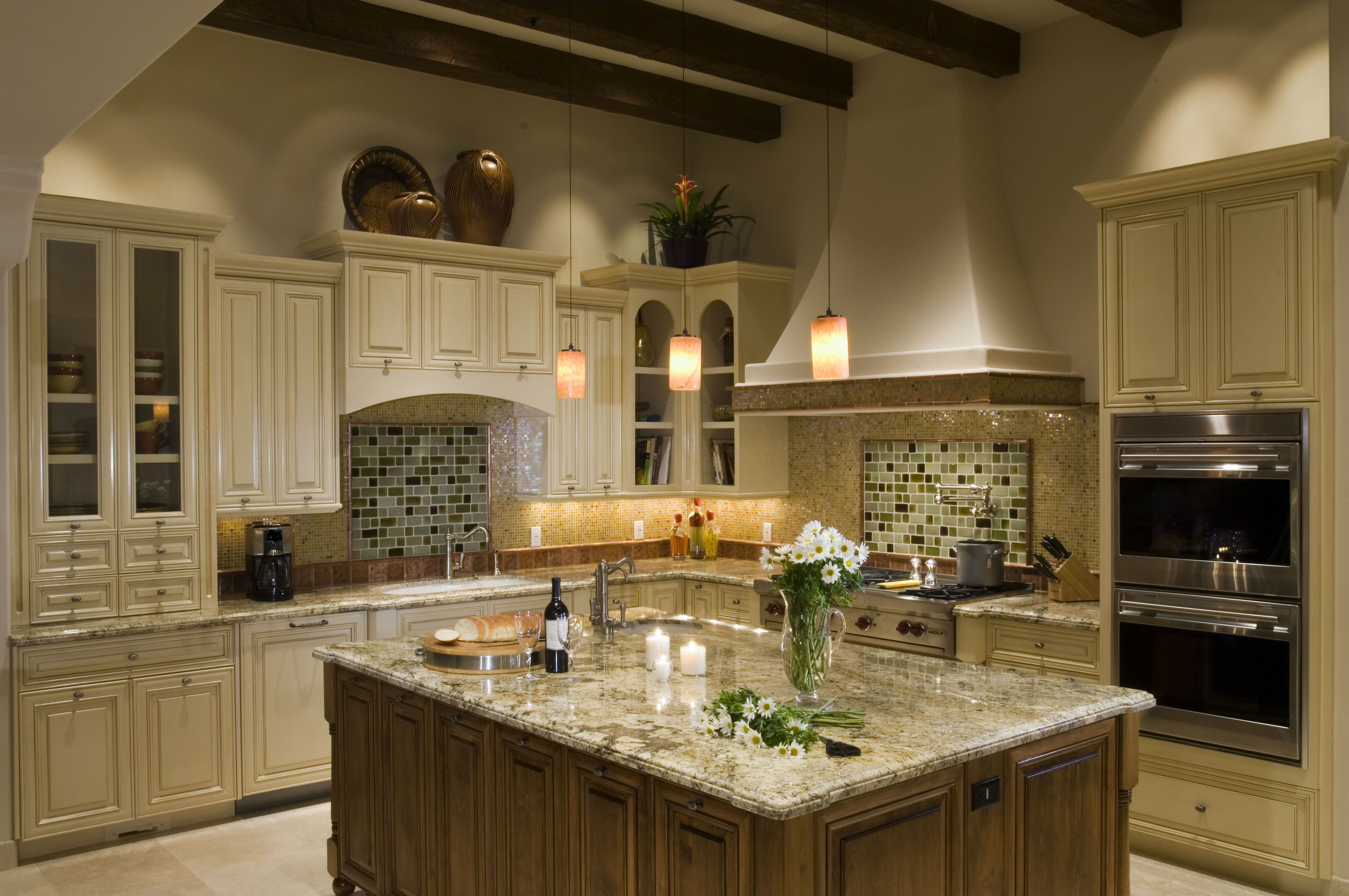 Stunning Kitchen Remodeling Ideas with DIY Hanging Lamps and Elegant