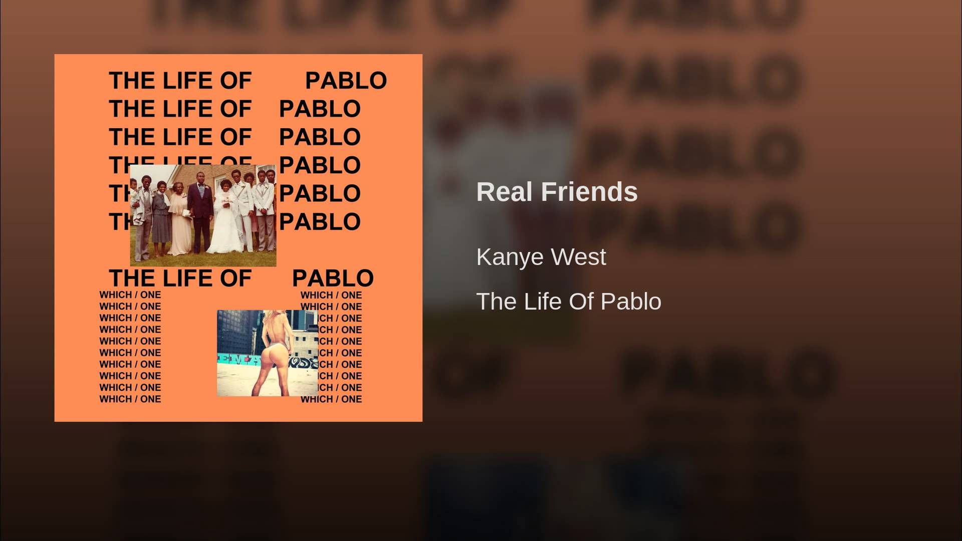 Real Friends Kanye West Kanye Chance The Rapper