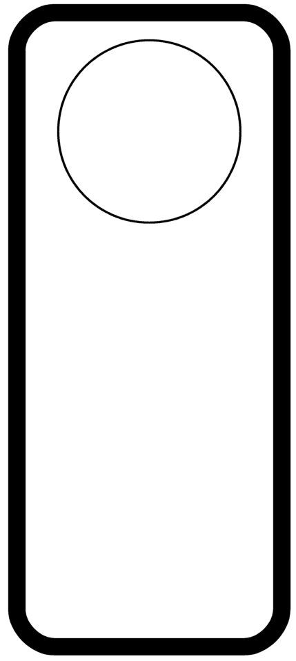 This is a graphic of Unusual Free Printable Door Hanger Template