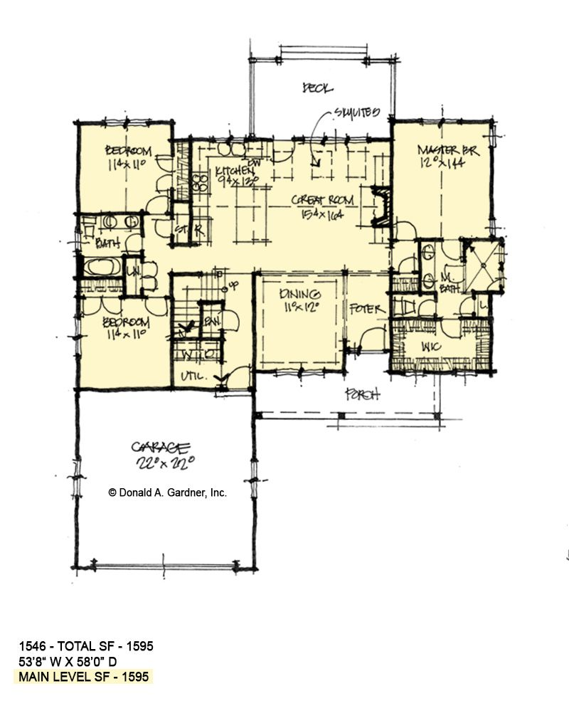 Small House Plan with Three Bedrooms