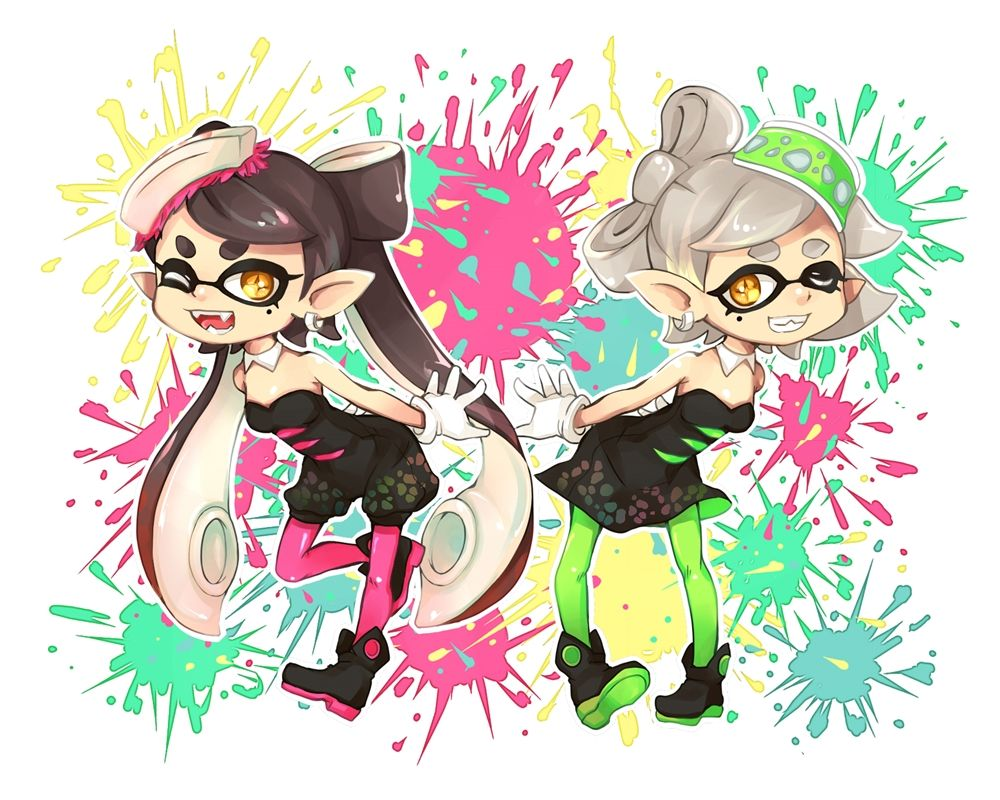 Callie And Marie Wallpaper: Callie And Marie - Splatoon, Pixiv