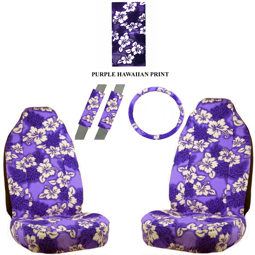 Purple hawaiian car seat covers google search car pinterest cars purple hawaiian hawaii aloha print with white hibiscus flowers wild series car truck suv auto front seat universal fit bucket seat covers and scrunchy izmirmasajfo