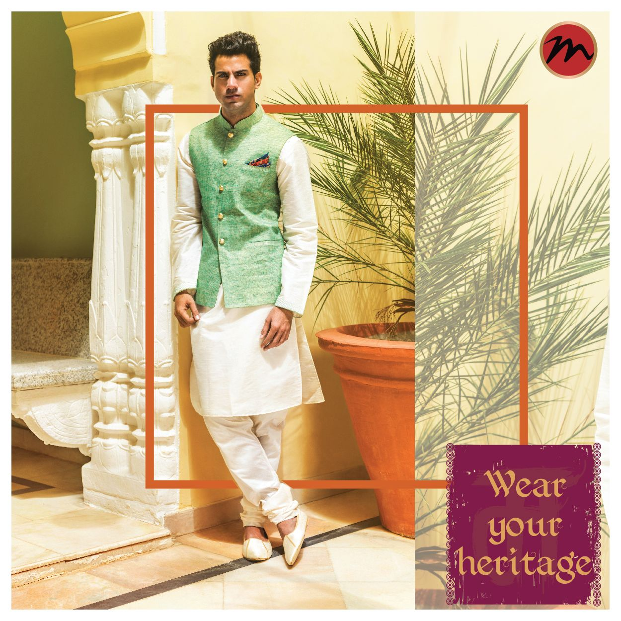 Let the passionate colours of our heritage define you #manishcreations #heritagefashion #wearwithpride #traditionalwear #coloursofheritage