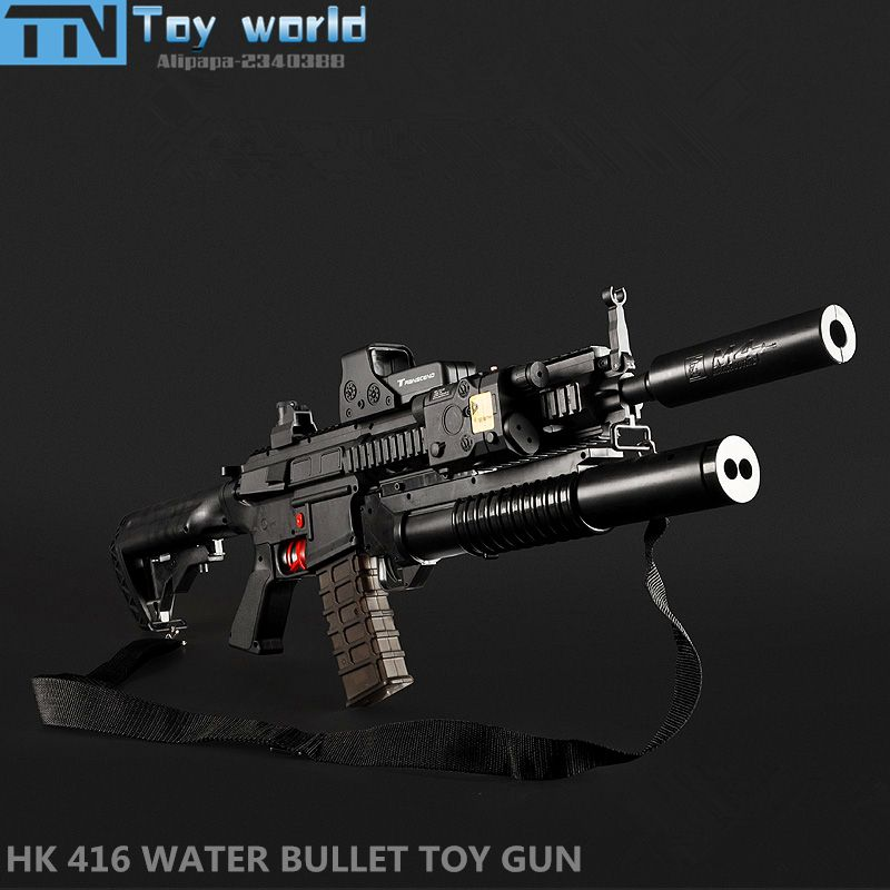 HK416 Electronic Toy Gun MAG FED water crystal bullet Rifle