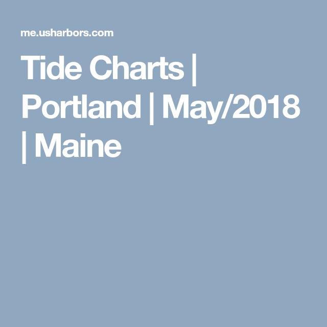 Tide Charts Portland May 2018 Maine Maine Casco Bay Tide