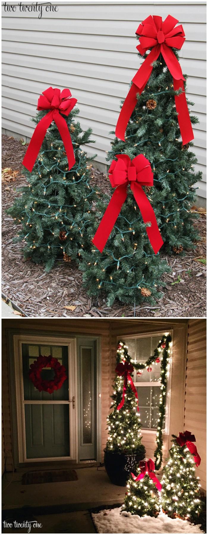 21 Cheap Diy Outdoor Christmas Decorations Diy Home Decor Christmas Decorations Diy Outdoor Diy Christmas Garland Outdoor Christmas Tree