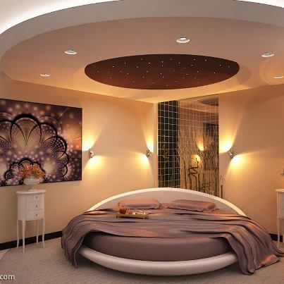 Round Bed Decor Luxurious Bedrooms Ceiling Design Bedroom Modern Bedroom