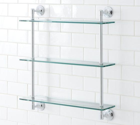 Mercer Triple Glass Shelf In 2020 Diy Shelves Bathroom Shelves Over Toilet Bathroom Storage Racks