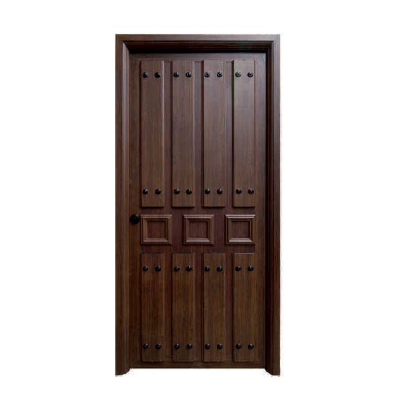 Puerta rustica galicia ciega caba a pinterest for Puertas principales de madera rusticas