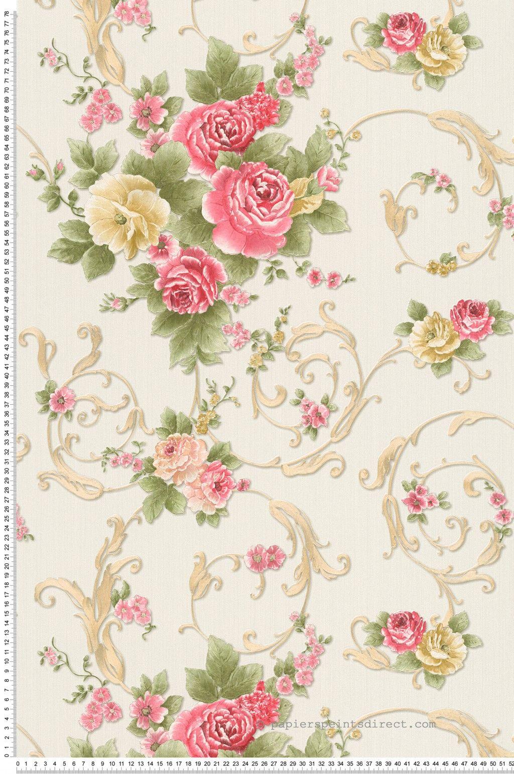 Fleurs Classiques Multicolores Papier Peint Romantica 3 D As