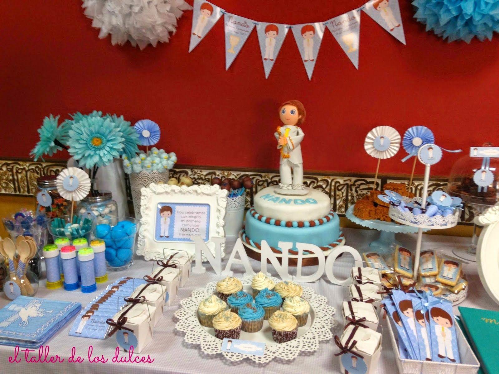 Mesa dulce comuni n galletas decoradas pinterest for Mesas dulces para comunion