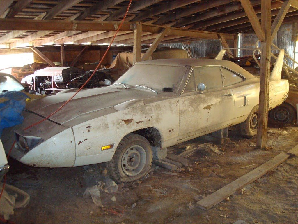 Epic Barn Find In Midwest Superbird Talladega Charger 500 And More When You See Someone Who Has All These Awesome Cars Just Sitting Rotting