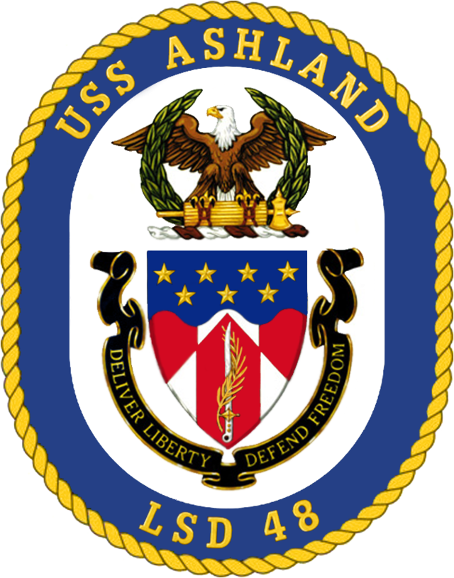 USS Ashland LSD-48 Crest | U S  Navy Ship's Crests
