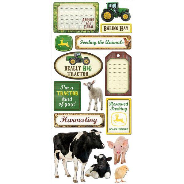 John Deere Farm Scrapbook Stickers Scrapbooking Pinterest