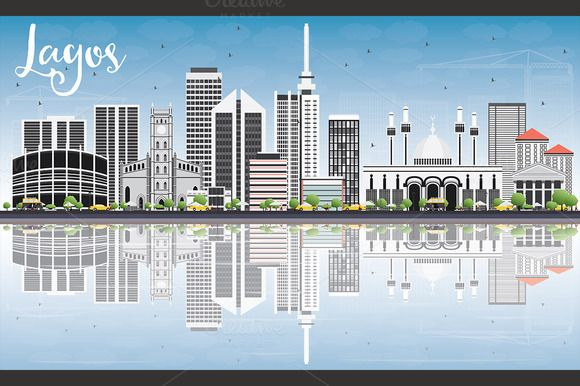 Lagos Skyline with Gray Buildings by@Graphicsauthor