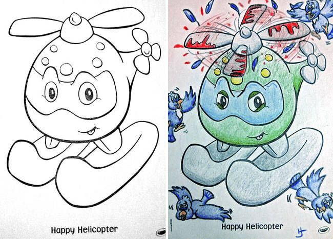 15 Of The Most Disturbing Things Drawn In Childrens Coloring Books