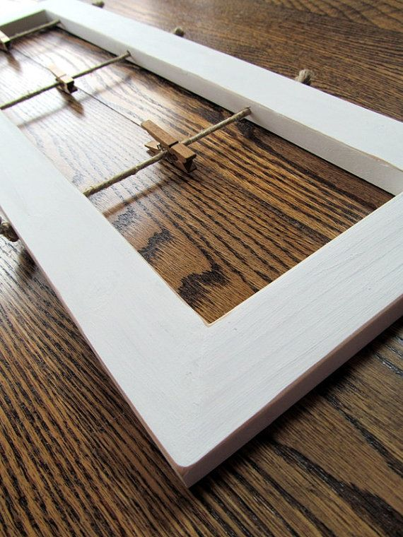 White Collage Wood Picture Frame No Glass by MyThreeWishesShop ...