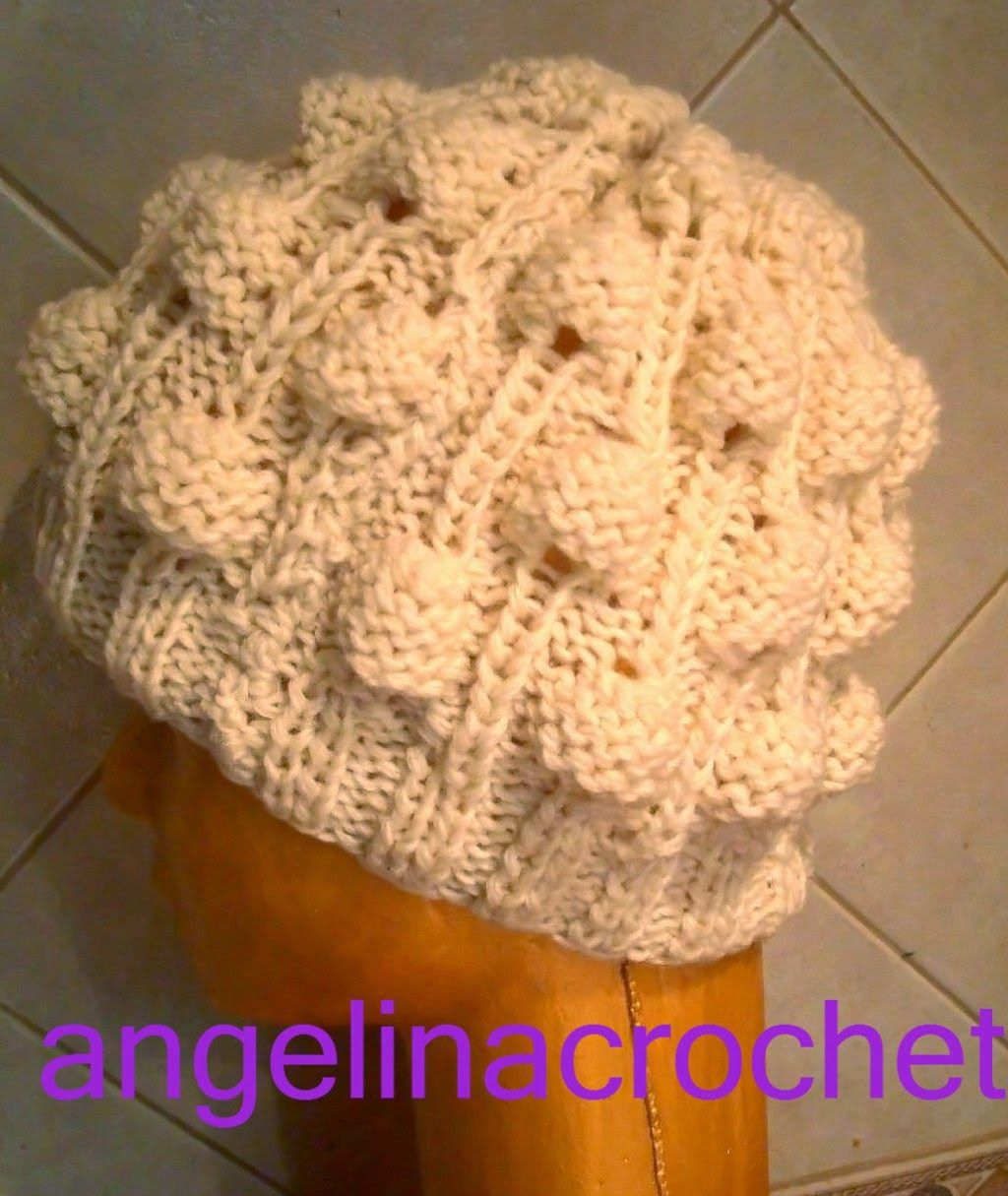 Angelina -crochet  and  more-: Gorro punto a relieve