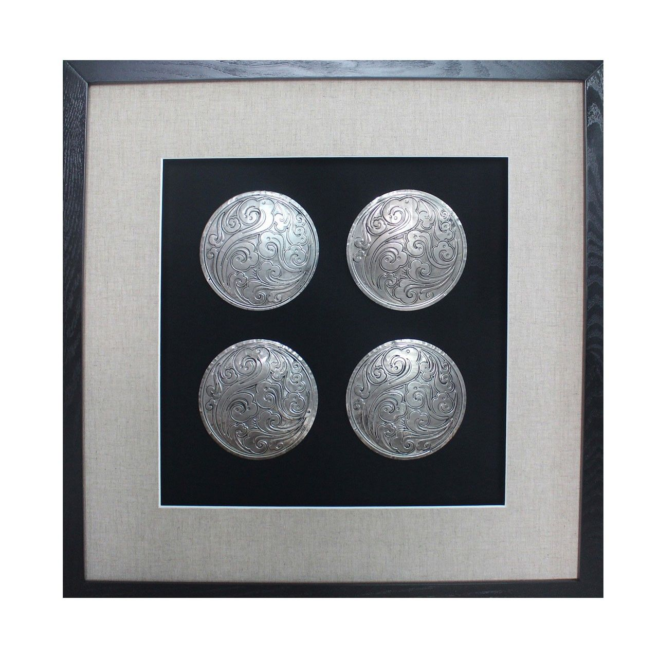 Mayfair home furniture are pleased to offer framed disc wall art silver as part of our premier houseware range