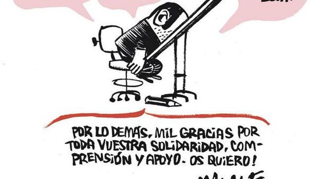 Viñeta de despedida de El Jueves de Manel Fontdevila