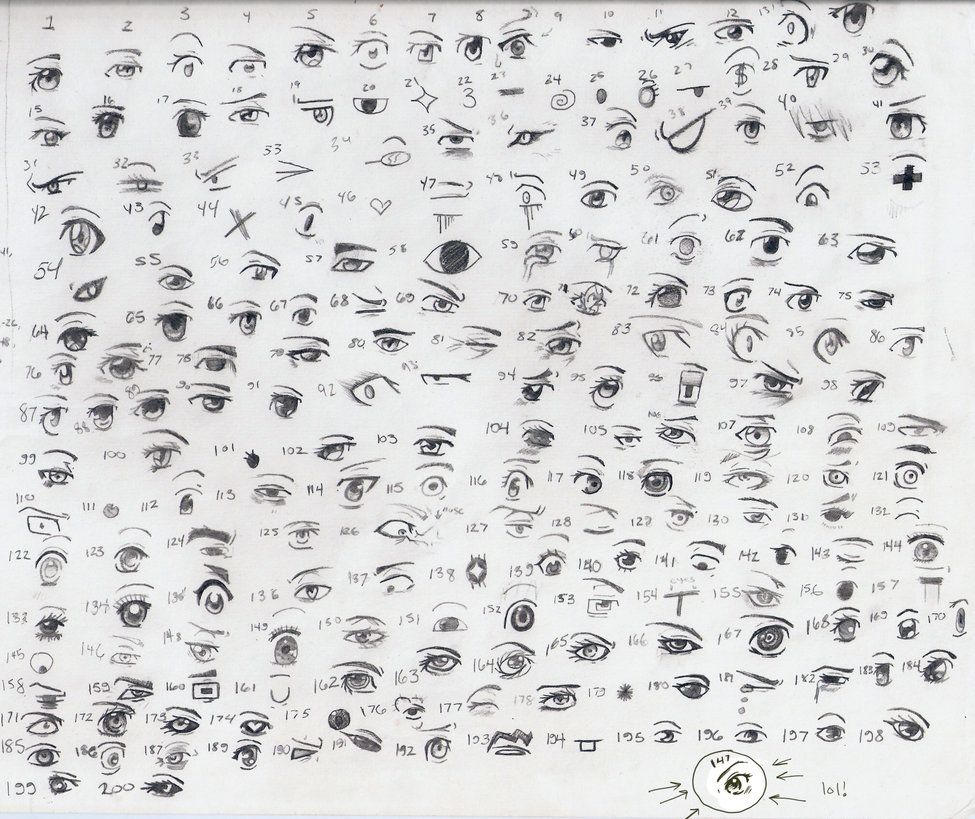 200 anime manga eyes by queen elle on deviantart
